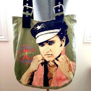 Vintage Elvis Presly Signature Tote Bag